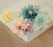 5pcs Beautiful Wedding Bridal Hair Floral Set 2Pcs Hair Combs 3Pcs Hairpins for Wedding/Quinceaneras/Special Events