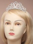 4215 Vintage plated crystal tiara with comb Wedding Prom Bride Bridesmaid