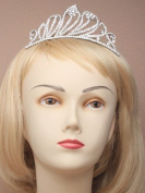 4214 Vintage plated wave crystal tiara with comb Wedding Prom Bride Bridesmaid