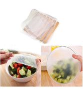 Grocery House 4 Pcs Reusable Silicone Food Storage Wraps, Bowl Seal Cover