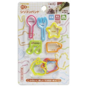 Silicone rubber band bento box set spoon fork star music