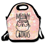Meowy Catmas Lunch Bag Adjustable Strap