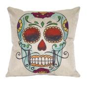 46cm *46cm Skulls Cotton Linen Decorative Cushion Covers Vintage Skull Throw Pillow Cases for Sofa Hot Sale C01