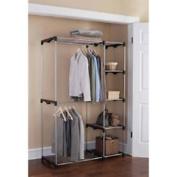 Mainstays Wire Shelf Closet Organiser, Black/Silver