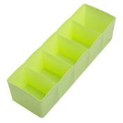 Gilroy 5 Compartments Plastic Cloth Storage Box Tie Bra Socks Underwear Drawer Organiser