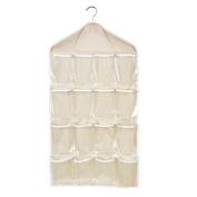 Shineweb 16-pocket Toy Underwear Sorting Storage Bag Door Wall Hanging Closet Organiser