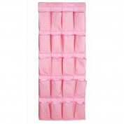 Olpchee Oxford Cloth Over the Door Shoe Organiser Washable 20 Pockets Hanging Shoe Organiser with 3 Steel Hooks