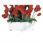Plater White Corner Plastic Planter 50cm L X 22cm H | Renovator's Supply