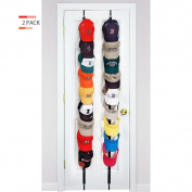 ASOON 2 Pack Caprack/Baseball Cap Holder/Hat Rack Organiser for 16 Caps