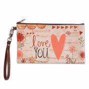 Brownlow Gifts Zippered Bag, Love You