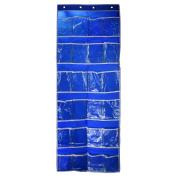 CHUANGLI Hanging Non-woven Fabrics Bag Over the Door Organiser Shoe Storage Rack with Hooks Bag Blue