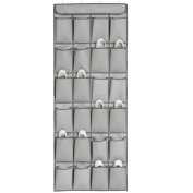Olpchee Extra Thick Oxford Cloth Over the Door Shoe Organiser Washable 24 Pockets Hanging Shoe Organiser with 4 Steel Hooks