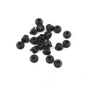 Lurry 100pcs Black Tattoo Machine Needles Rubber Nipples Tattoo Supplies Accessories