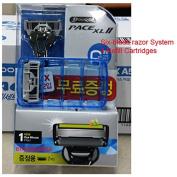 Dorco PACE XL II, Six-blade razor System : 1 Razor + 4 Refill Cartridges