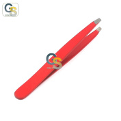 G.S PROFFESIONAL RED colour EYEBROW TWEEZER SLANTED HAIR BEAUTY WOMAN BEAUTY MAKEUP BEST QUALITY