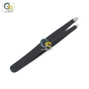 G.S PROFFESIONAL BLACK colour EYEBROW TWEEZER SLANTED HAIR BEAUTY WOMAN BEAUTY MAKEUP BEST QUALITY