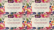 4 Bar Set Venezia Soapworks/ Shugar Soapworks Pure Vegetable Soap Coconut Oil and Sea Salt 7. Oz Each Bar