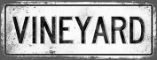 VINEYARD Metal Street Sign, Vintage, Retro