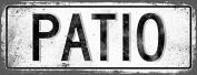 PATIO Metal Street Sign, Vintage, Retro