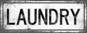LAUNDRY Metal Street Sign, Vintage, Retro