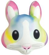 iscream Good Vibes! Watercolour Bunny Photoreal Print 48cm x 39cm Fleece-Backed Microbead Pillow