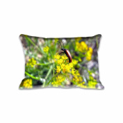 Beetle On A Flower Pillowcase 41cm x 60cm inch Two Sides Comfortable Zippered Pillow Cover Cases for Kids Family Gift