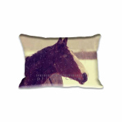 Horse In Winter Pillowcase 41cm x 60cm inch Two Sides Comfortable Zippered Pillow Cover Cases for Kids Family Gift