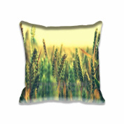 Square 41cm x 41cm Zippered Ripe Wheat Pillowcases Digital Print Adults Kids Cushion Covers