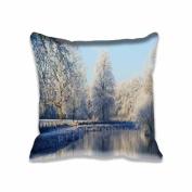 41cm x 41cm Frozen Mist pillow cushion cases Polyester Cotton Eco friendly Home Pillow Protector