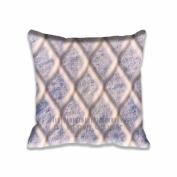 Square Digital Print Decorative Throw Pillow Cover Frozen Fence Design 41cm x 41cm