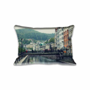 River City Pillow Covers Protector Two Sides Standard Zippered Pillowcase Pillow Sham 20x30inche for kids New Year Gift