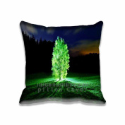 Square 50cm x 50cm Zippered Glowing Tree Pillowcases Digital Print Adults Kids Cushion Covers