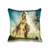 Square 50cm x 50cm Zippered Church Pillowcases Digital Print Adults Kids Cushion Covers
