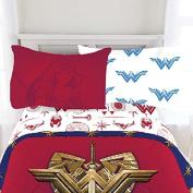 3pc DC Comics Wonder Woman Twin Bed Sheet Set Themyscira Bedding Accessories