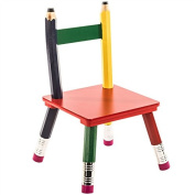 Child's Pencil Chair Primary Secondary Colours Red Yellow Green Blue Wood Children