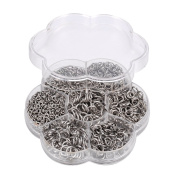 VALYRIA 1 Box Stainless Steel Open Jump Rings Diameter 4mm to 10mm about 800pcs