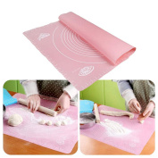 1Pcs Baking Mat, Inkach 29 x 26cm Silicone Rolling Kneading Mat for Cake Dough Fondant Scale Table Grill Pads Random Colour