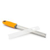 Zester & Cheese Grater - Parmesan Cheese, Lemon, Ginger, Garlic, Nutmeg, Chocolate, Vegetables, Fruits - Razor-Sharp Stainless Steel Blade