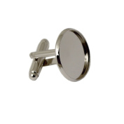 Cufflink Blanks with 14mm Circel Bezel For Personalised Cuff Links Making Gift For Him