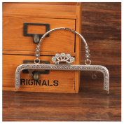 Ownstyle Crown Clasp Metal Frame Purse Frame Kiss Clasp Lock Squared Design 20cm