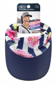 Scunci Visor Headwrap, Navy/Floral