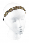 Scunci Rhinestone Beaded Headwrap, Gold
