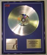 JUSTIN TIMBERLAKE/LTD EDITION CD PLATINUM DISC/FUTURE SEX/LOVE SOUNDS