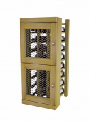 Wine Storage Lockers - Two Levels for 60 Bottles - Pine with Unstained - All Locks the Same