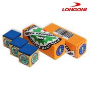 3 pcs of Longoni NIR Super Professional Pool cue Billiard CHALK - Blue