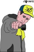 Gangster Shooter Paper Target