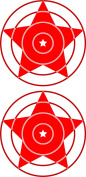 Paper Target Double Red Star Shooting Targets