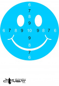 Blue Smiley Face Paper Shooting Target