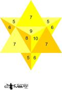 3D Yellow Star Practise Paper Target