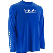 HUK Performance Fishing Youth Performance Raglan Long Sleeve Shirt, Royal,